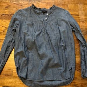 J Crew denim long sleeve blouse